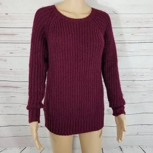 American Eagle Jegging Sweater Burgundy S